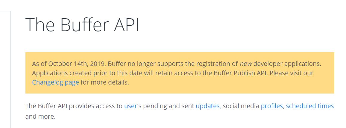 BufferのAPIが登録できなくなった件について